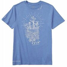 NWT Boys Ralph Lauren blue T-shirt top age 7-8 years, 13-14 years or 15-16 years