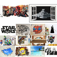 3D Cartoon Kids Bedroom Decor Home Decal Wall Sticker Mural DIY Removable Vinyls