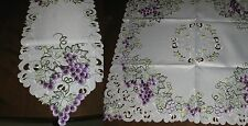 "Table Linens  Vineyard design  Runner (68""x13"") or Topper (34"" square)  NEW"