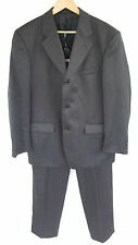 HORNE BROTHERS WOOL MIX GREY PINSTRIPE TEXTURE SINGLE BREAST SUIT 42R W36 L31