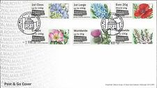 GB POST & GO FDC 2017 SYMBOLIC FLOWERS SHAKESPEARE BIRTHPLACE TRUST STRATFORD