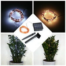 100 LED Solar Powered Fairy Light String Wedding Party Xmas Party Decoration