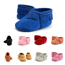 Kids Boys Girls Baby Infant Toddler Tassel soft sole prewalker Shoes Anti-slip