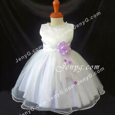 NLLA7 Baby Girls Wedding Holiday Formal Party Night Evening Ball Prom Dress Gown