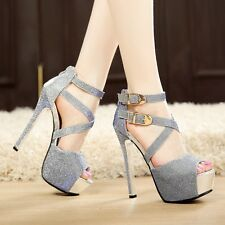 HOT!!!Sexy Women Pumps Platform Strappy sandals Stiletto High Heels Party Shoes