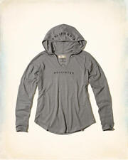 Abercrombie & Fitch – Hollister Womens T-Shirt Tee Hooded Logo XS Grey NWT