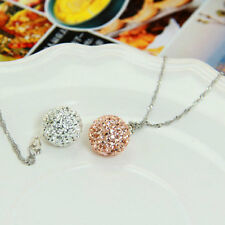 Fashion Women Silver Plated Chain Crystal Rhinestone Necklace Pendant VE