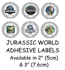 Personalised JURASSIC WORLD Self Adhesive Glossy Labels/Stickers