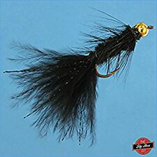 Woolly Bugger BLACK Bead Head Fly Fishing Flies - One Dozen - Sizes Available***