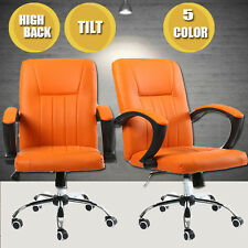 High Back Executive Luxury Swivel Modern Office Chair PU Leather Computer Chair