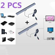 2X Wired Infrared Ray Sensor Bar for Nintendo Wii Remote Controller Pro VE