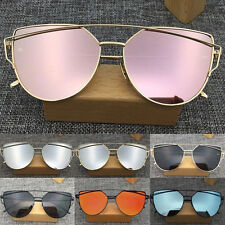 Women Mirrored Lens Designer Sports Retro Vintage Cat Eye Oversized Sunglasses