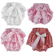 Cute Baby Kids Girls Ruffle Nappy Diaper Cover Dress with Bowtie Design