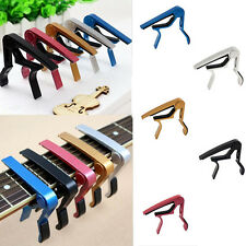 For Acoustic Quick Change Clamp Key Capo Silver Clamp Classic Guitar Electric