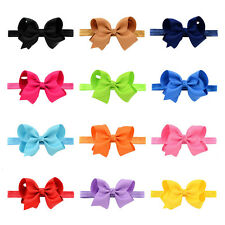 Hairband Flower Bow Soft knot 1Pcs Girls Elastic Band Headband Hair Accessories
