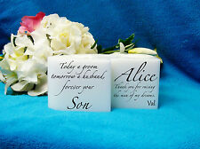 Mother Of The Groom Gift Heart Candle With Tealight Inserts Personalized