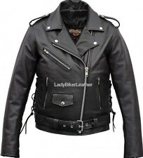 Mens CLASSIC BIKER Heavy Duty TOP GRAIN Leather TRADITIONAL Motorcycle Jacket