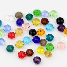 8mm Crystal Glass Beads Loose Faceted Strand Bead Jewellery Finding Craft 70pcs