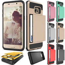 Slim Armor Case Slide Credit Card Slot ID Holder Cover For Samsung Galaxy S8 +