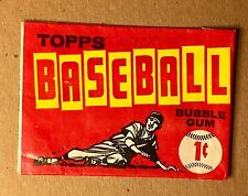 1961 TOPPS BASEBALL CARDS 1 CENT WAX PACK WRAPPER- REALLY NICE CONDITION