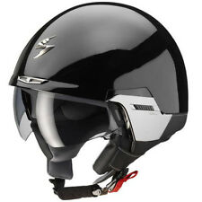 Scorpion Exo-100 Gloss Black Open Face Motorcycle Helmet