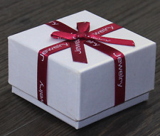 Wholesale! Present Gift Necklace/Earring/Ring Red Bow White Paper Jewelry Boxes