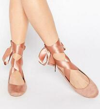Womens Ballet Wedding Ballet Flat Heels Strappy Shoes Boat Loafers Pums Shoes 11