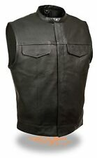 LEATHER Vest vest MOTORCYCLE BIKER gilet en cuir vest CHOPPER ROCKER-L