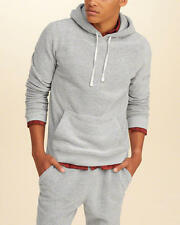 Abercrombie & Fitch – Hollister Mens Textured Fleece Icon Hoodie XL Grey NWT