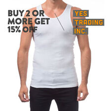 PROCLUB PRO CLUB MENS CASUAL A-SHIRT WHITE WIFEBEATER UNDERSHIRT TANK TOP MUSCLE