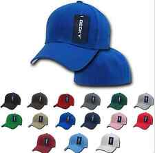 Basic Fitted Pre Curved Bill 6 Panel Baseball Hats Hat Caps Cap Many Sizes Color