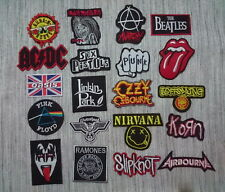 Patch Sew Iron On Embroidered Music Logo Various Punk Rock Band Heavy Metal