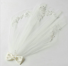 flower girl veil wedding Holy First Communion with comb bowknot lace Headpiece