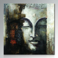 Frame Handmade Modern Wall Art Abstract Figure of Buddha Oil Painting on Canvas