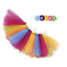 2Pc Lovely Girls Toddler Kid Baby Princess Props Outfit Dress Tulle Tutu Skirt