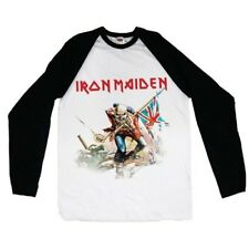 Iron Maiden Trooper Raglan Baseball Shirt S M L XL Official Metal Rock Band Merc