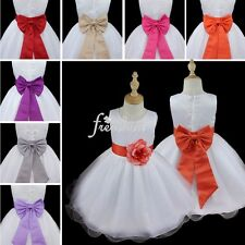 Flower Girl Baby Sleeveless Tutu Dress Kid Wedding Formal Bridesmaid Party Dress