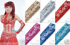 New Belly Dance Costume Accessory Sequins Elastic Gloves Sleeves 1 Pair 43cm