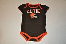 NWOT Cleveland Browns Girls Infant Bodysuit/Creeper (18M) Baby Jersey