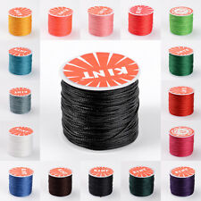 106m/Roll Strong 0.5mm Round Waxed Polyester Cords Stringing Threads Pick Colors