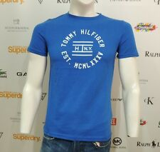 NWT Tommy Hilfiger Mens T-Shirt Short Sleeve Blue FINN TEE 08878A0259