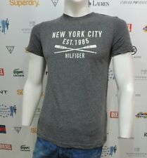 NWT Tommy Hilfiger Mens T-Shirt Short Sleeve Gray HARRY TEE MW0MW00143-065
