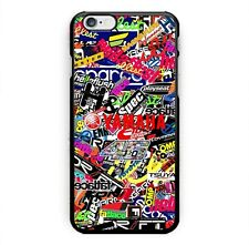 Yamaha Logo Collage Sticker Print On Hard Plastic Case For iPhone 5s 6s 7 (Plus)