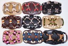 Double Magic Hair Combs, Angel Wings Clips, African Butterfly Style, Quality S85