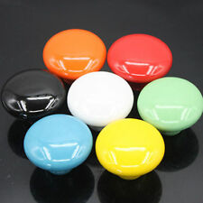 5PCS Ceramic Furniture Round Door Knobs Cabinet Drawer Pull Kitchen Handle