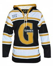 Guinness Black & Gold Hooded Hockey Jersey Clothing Mens Apparel Hoodie Shirt
