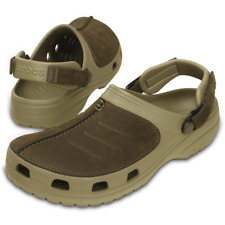 Mens Yukon Messa Crocs Brown Clogs Beach Shoes Waterproof Sandals UK 7 - 13