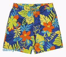 Men Polo Ralph Lauren Captiva Tropical Floral Blue Swim Trunks Surf Board Shorts