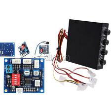 "4 Channel 3.5"" PC 12V PWM PC CPU Fan Temperature Control Speed Controller Module"