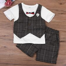 Baby Boys Outfit T-Short Top Short Sleeve+Shorts Pants Casual Summer Clothes